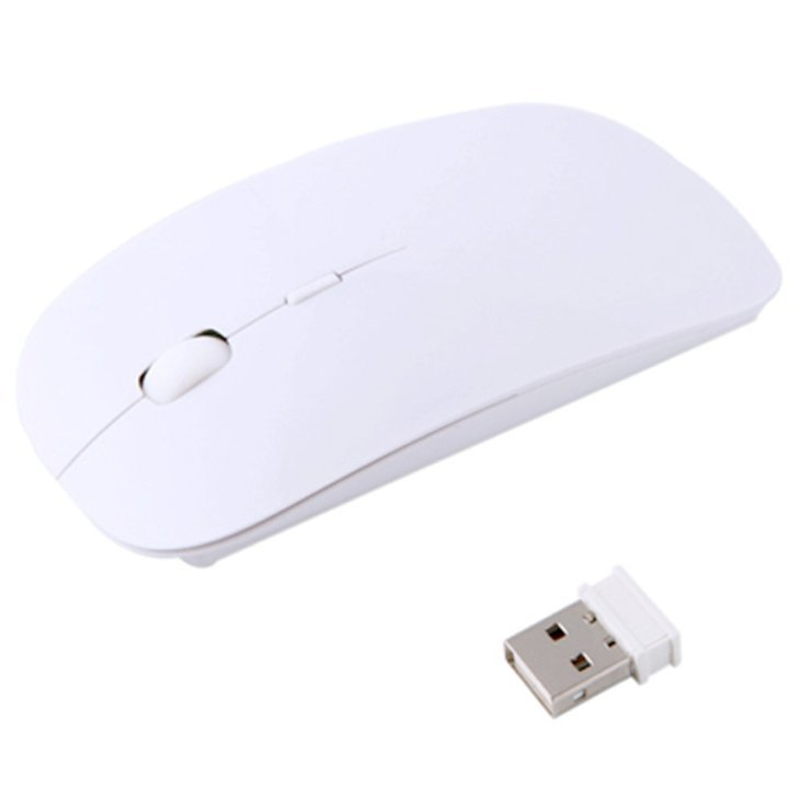 Wireless Mouse avec 4.0 USB Adapter (BLANC) - ShopEasy