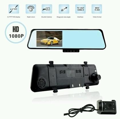 Retroviseur - DOUBLE Camera de Recule et Camera de Surveillance Routiere (Avant et Arriere) - ShopEasy