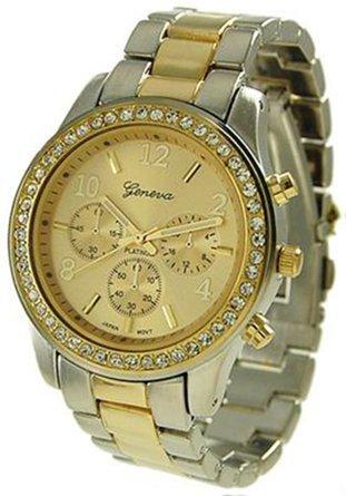 Montre pour Femme Geneva - Chronographe Turque - Stainless Gold - ShopEasy