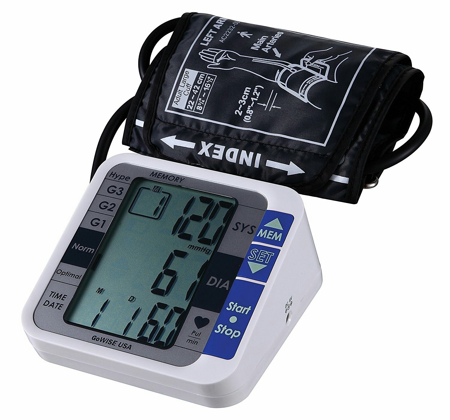 Tensiometre Digital - Digital Upper Arm Blood Pressure Monitor with Hypertension Risk Indicator & Irregular Heartbeat Detection