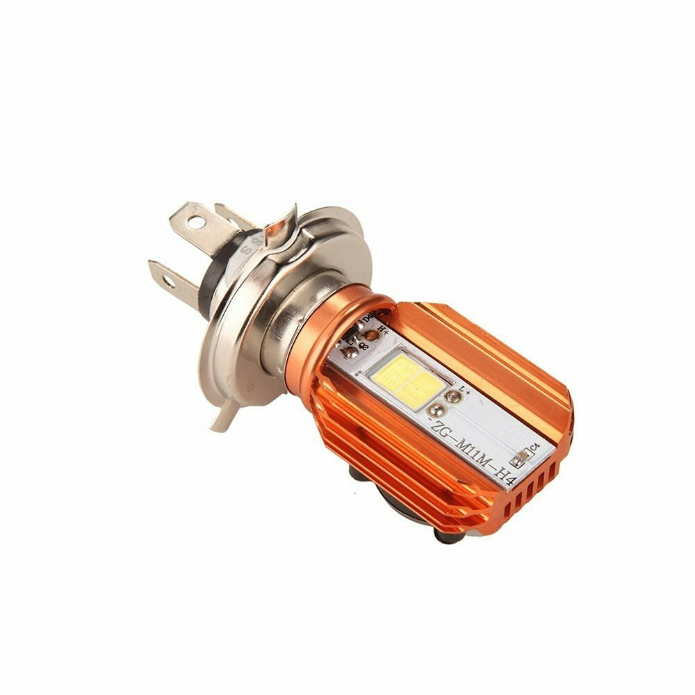 LED Lumiere Ampoule pour Motocyclette Headlight Bulb H4 Motorcycle Front Lights with Cooling Fan Headlight 20W 2,000 L - Moto Bulbs Hi/Lo Beam - Honda Suzuki Yamaha Kawasaki