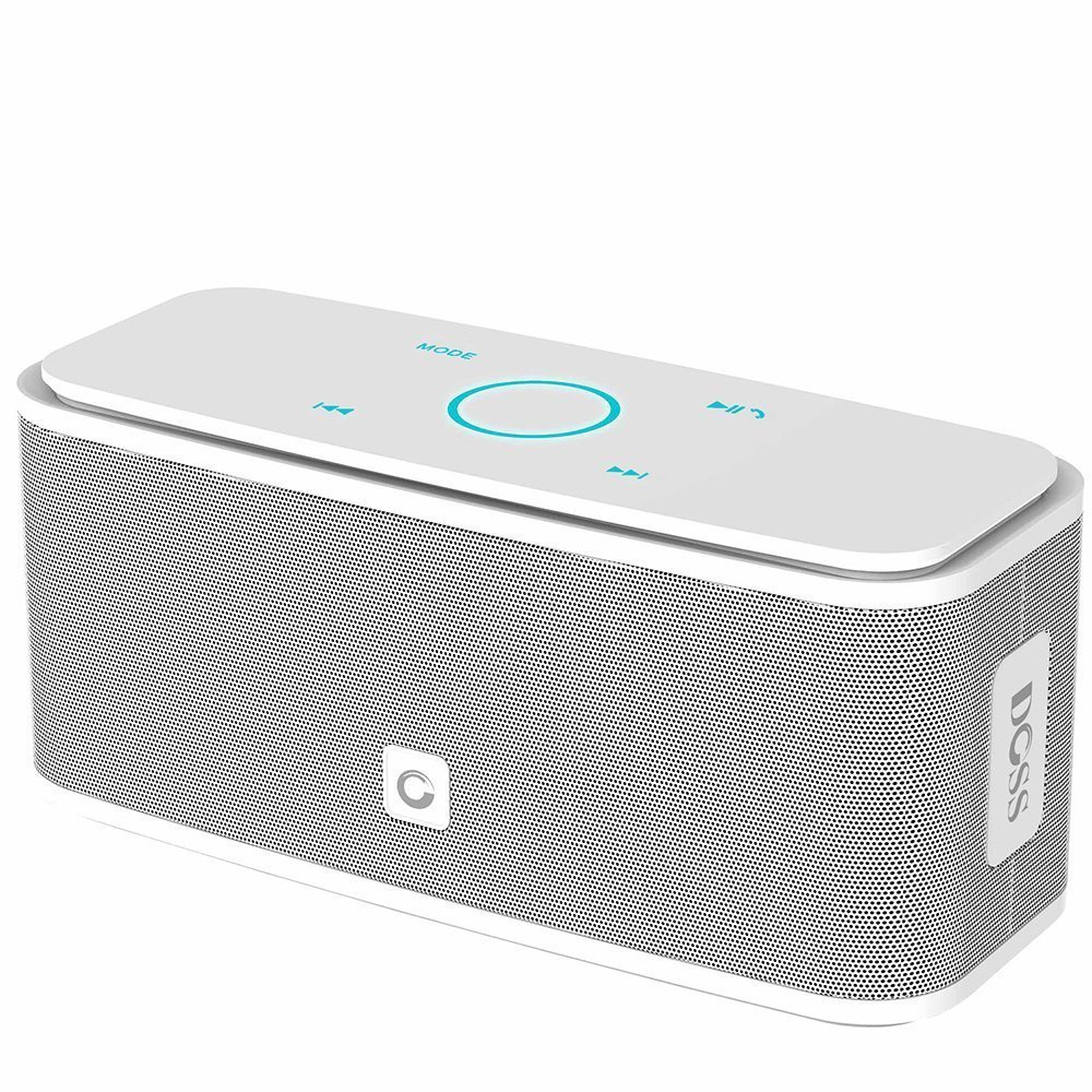 DOSS Touch Wireless Bluetooth V4.0 Portable Speaker Haut-Parleur Tactile avec Son HD et Super Bass BLANC