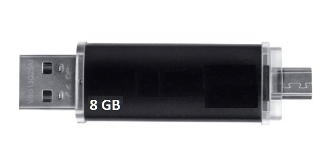 USB Double Android & PC 8GB Version 5.0