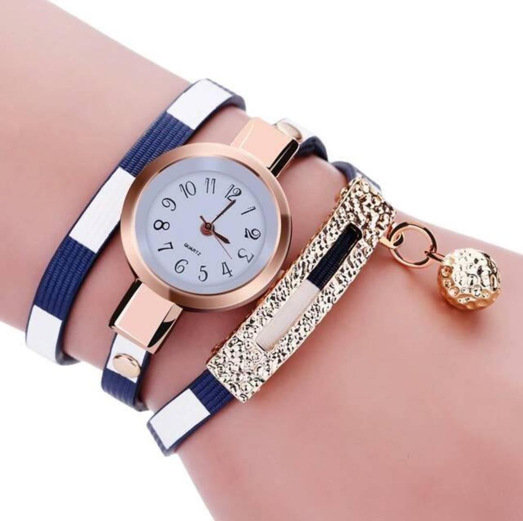 Bracelet Montre Watch Blue & White (BLEU & BLANC)