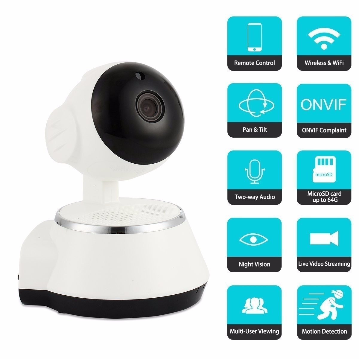 CAMERA DE SURVEILLANCE WIRELESS Wireless Monitor, M.Way Vide Wifi Monitor HD 720P Remote Home Security Camera Night Vision WIFI Webcam - Vendu a des clients avises. (NOT AN IP CAMERA)