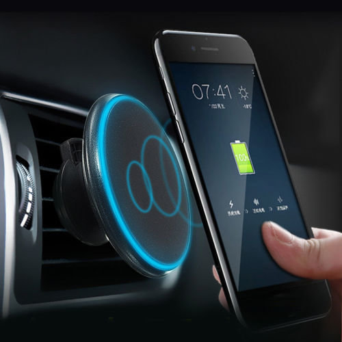 Qi Chargeur Wireless Magnetic Vehicule - Car Charger Magnetic Mount Holder SAMSUNG S8, S9, NOTE 8 iPhone 8X