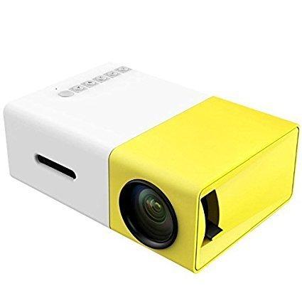 Mini Projecteur AMATEUR 600 Lumen - Projector Home Cinema pour PC Laptop USB/MiniSD/AV/HDMI - Video - Speaker Integre Headphone  - Movie - ShopEasy