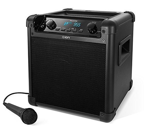 ION Audio Tailgater (iPA77) | Portable Bluetooth PA Speaker avec Mic, AM/FM Radio & USB Charge Port