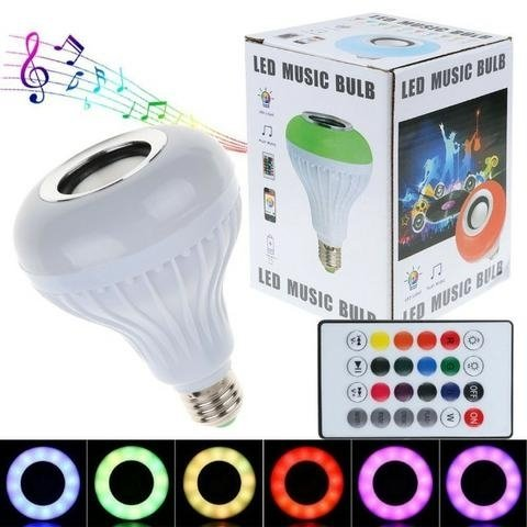 Smart Ampoule Speaker Bluetooth NON RECHARGEABLE Music Bluetooth LED Light Buld