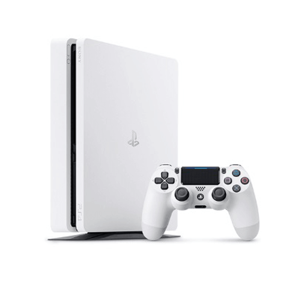 PLAYSTATION 4 PS4 WHITE 500 GB GAMESTOP REFURBISHED PREOWNED + 1 MANETTE PS 4