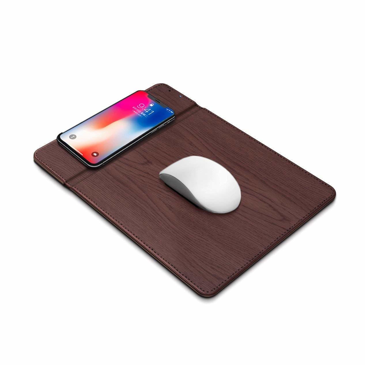 MKK Wireless Charger Mouse Pad Mat Charger, QI Mouse Pad/Mat Wireless Charger iPhone X iPhone 8/8 Plus Samsung Note 8/S8/S7/S6/Edge