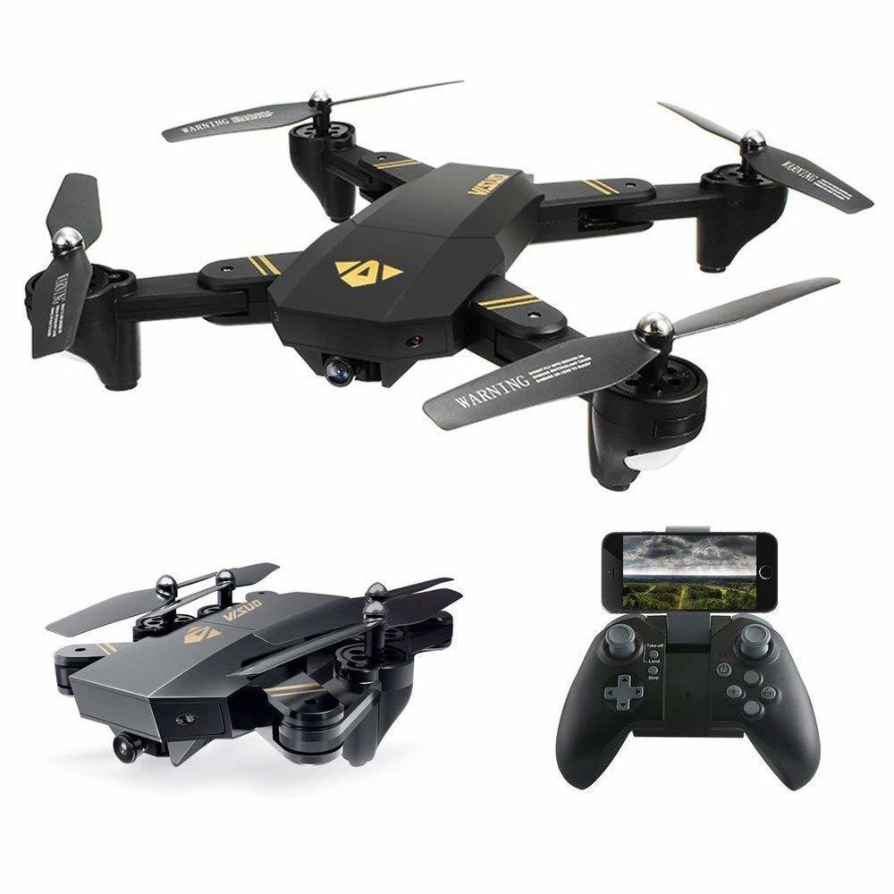Mavic Clone FPV Drone AMATEUR (NON-PROFESSIONEL) Camera Live Video WiFi 10 Minutes de Vol - Quadcopter 720P HD 2MP 120° Wide-Angle Camera pour Debutant Altitude Hold - Headless Mode - Return Home