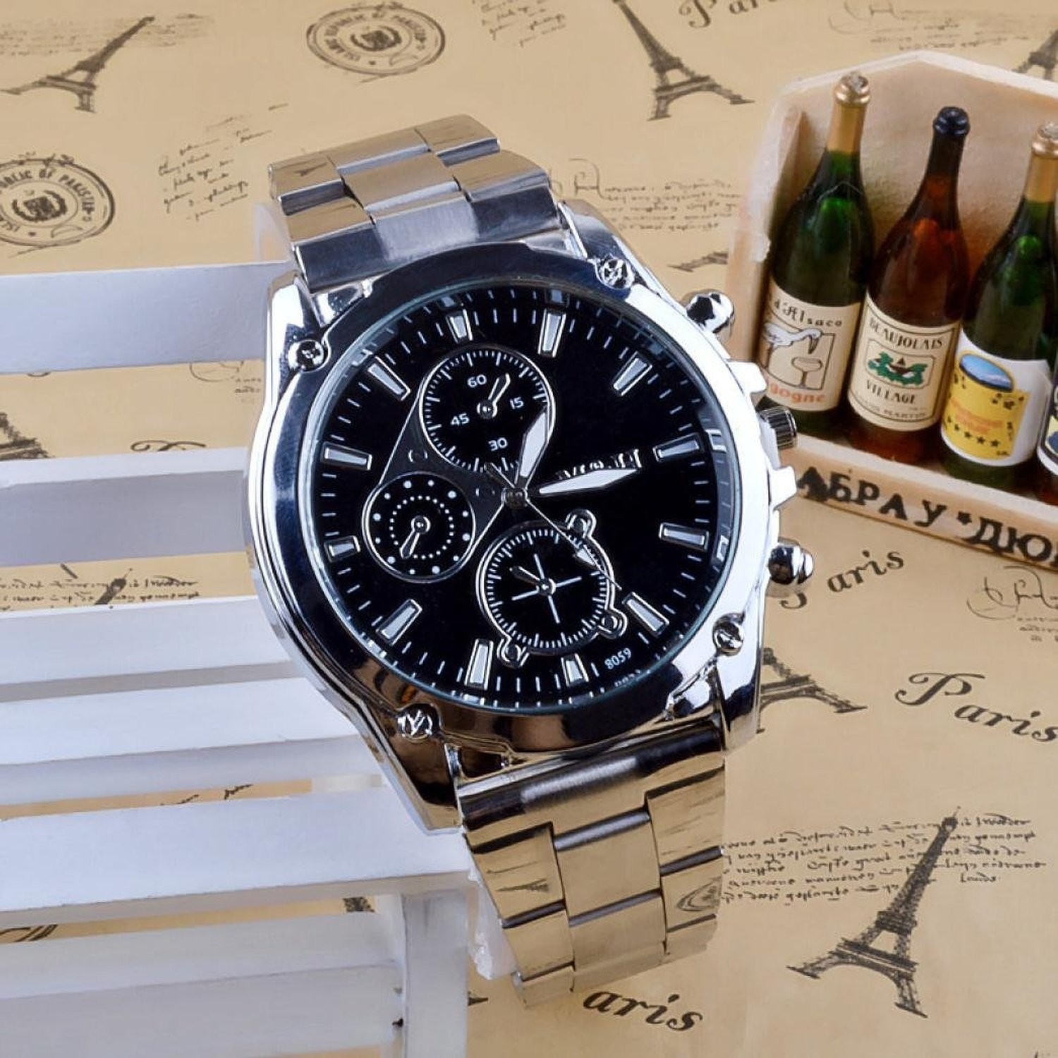 Montre Businessman - Metal Stainless Watch