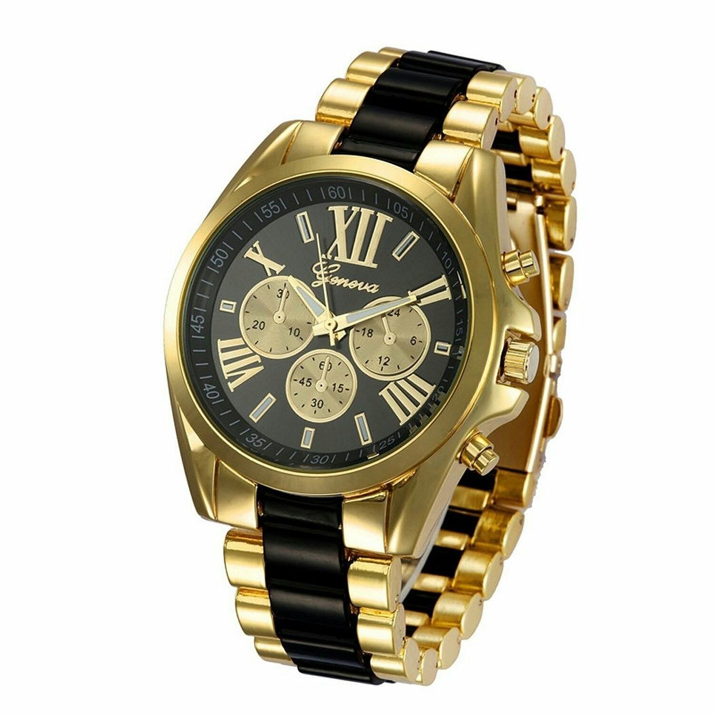 Montre pour Homme - Watch Gold Plated - NOIR et OR