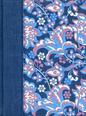BIBLIA DE APUNTES EDICIÓN ILUSTRADA RVR1960/AZUL Y ROSADO/TELA