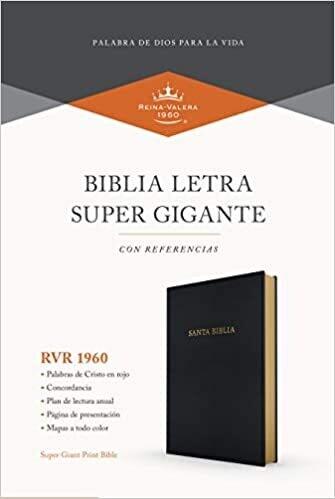 BIBLIA LETRA SUPER GIGANTE SIN INDICE RVR60/ NEGRO/ IMITACIÓN PIEL