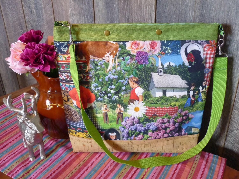 Farbenfrohe Schwarzwald-Liebe Tasche