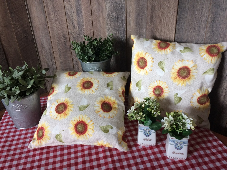2 Kissen Sonnenblumen