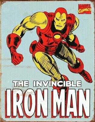 Invincible Iron Man Aluminum Metal Sign