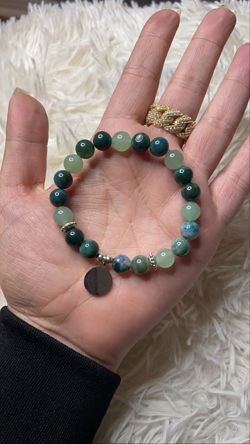 Brazalete Ho'oponopono - Verde esmeralda