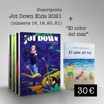 Suscripción Jot Down Kids 2021 (nº18 al nº 21) + El color del mar