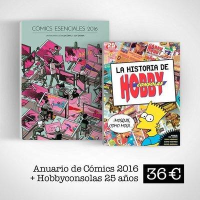 Cómics Esenciales 2016 (Libro + ebook) + La Historia de Hobby Consolas 25 años
