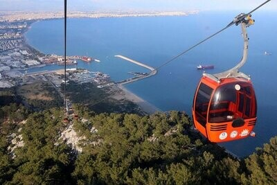 Telefric, Boat Trip & Waterfalls Antalya Full-Day Tour