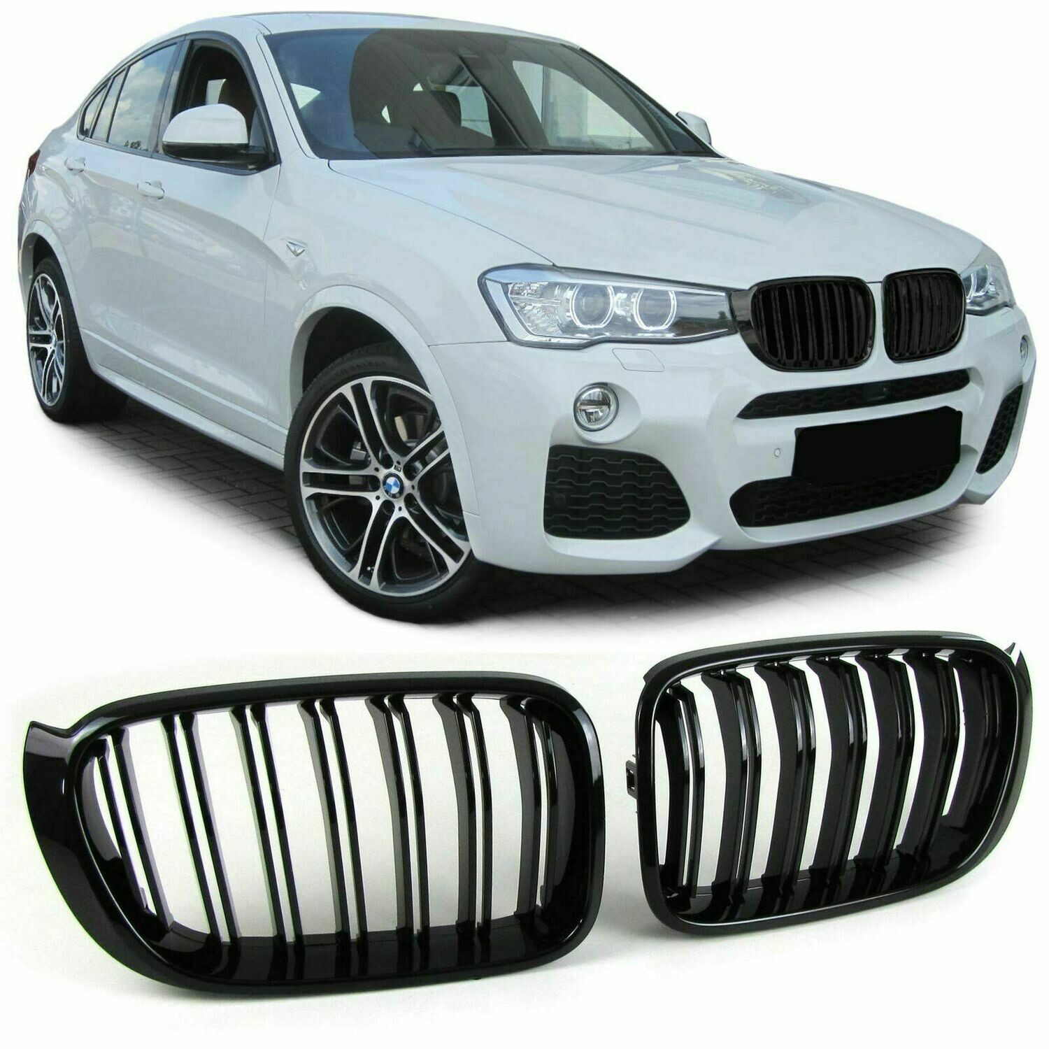 Sport Grill Black Gloss For Bmw X3 F25 X4 F26 2014 M Look Monster Tuning Parts Design Art Since 1997