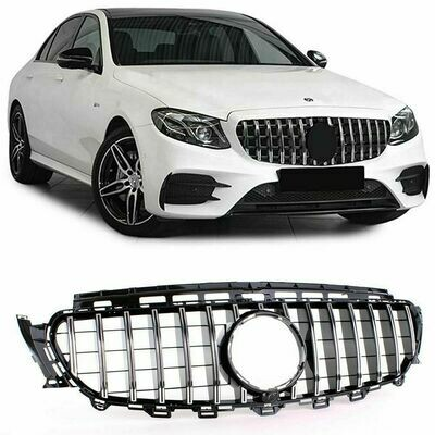Sport Grill BLACK & CHROME for Mercedes E Class W213 16-20