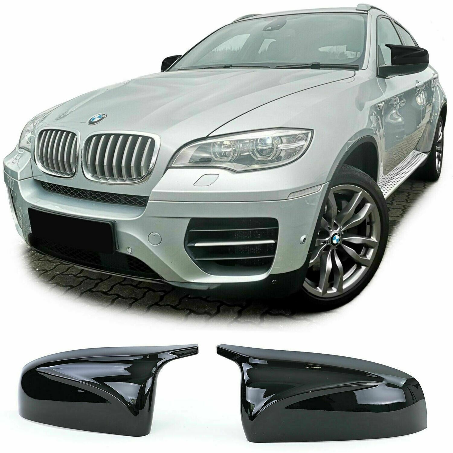 Mirrors Cover Black Gloss for BMW X5 E70 X6 E71 06-13