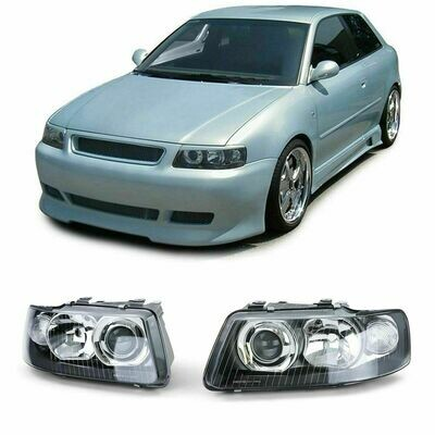Front Dark headlights for AUDI A3 8L 00-03