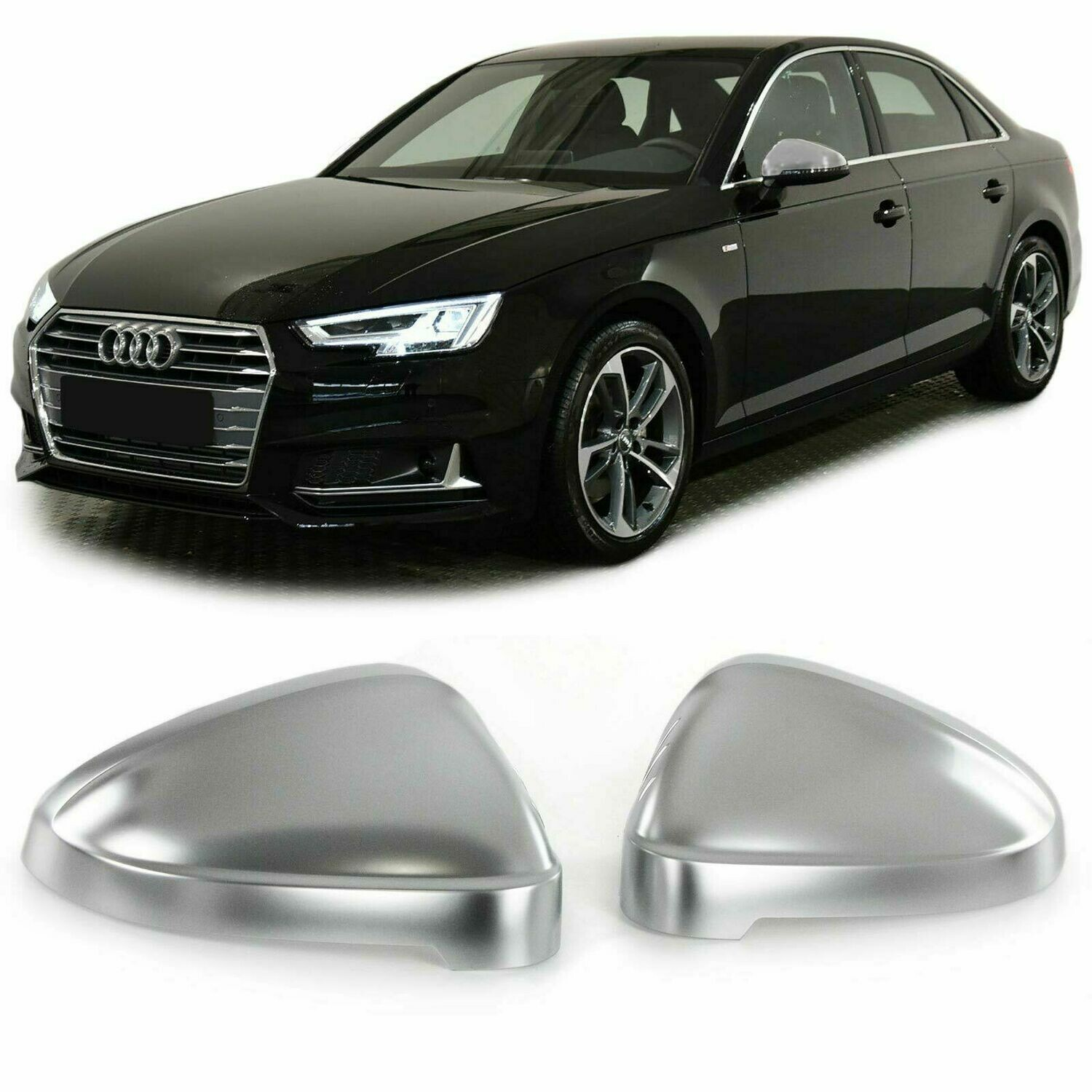 Mirrors Cover Silver for AUDI A4 S4 B9 8W 15-17 A5 S5 B9 8F