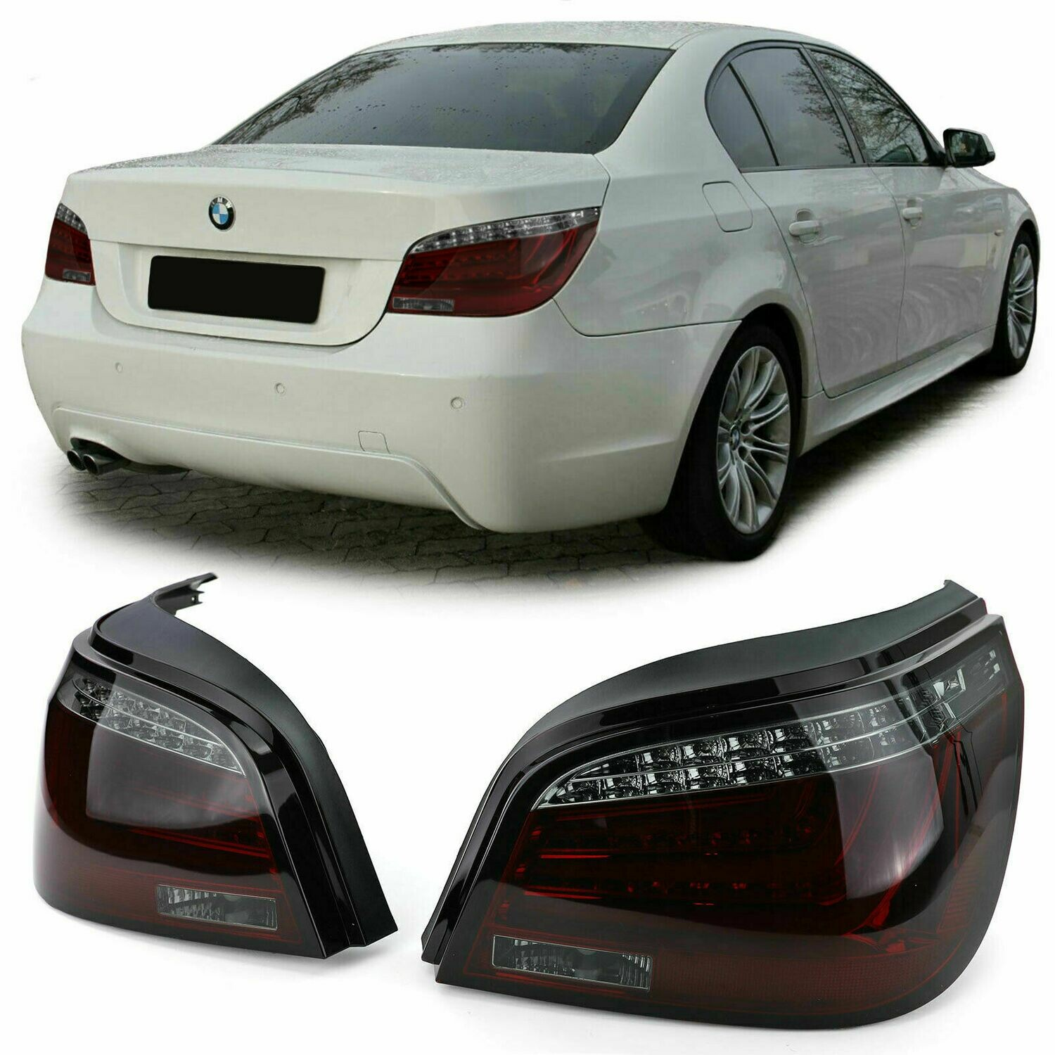 Rear LED BAR Lights RED SMOKE for BMW E60 07-10 Series 5 SALOON