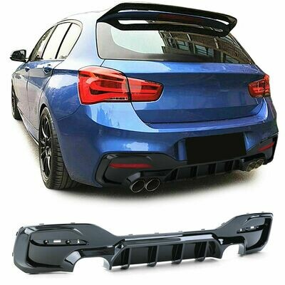 Rear Diffuser Black GLOSS for BMW F20 F21 2015 Series 1