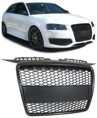 Sport Grill BLACK MATT for AUDI A3 8P 05-08 NEW