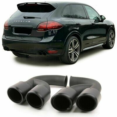 Rear Exhaust Pipes for PORSCHE CAYENNE 92A V6 10-14 BLACK