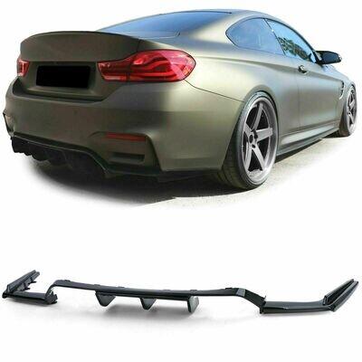 Rear Diffuser Spoiler BLACK GLOSS for BMW M3 F80 M4 F82 F83