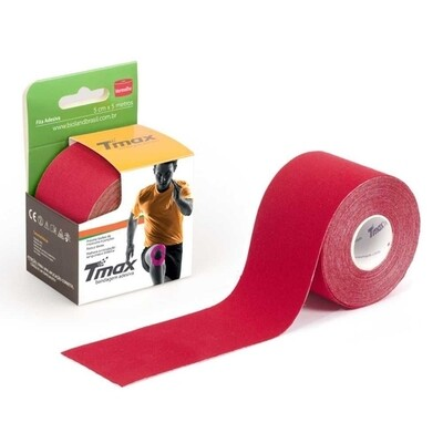 Tmax Fita de Kinésio Bandagem Funcional 5cm x 5m Cor: Vermelha