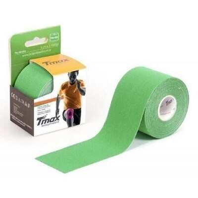 Tmax Fita de Kinésio Bandagem Funcional 5 cm x 5 m Cor: Verde