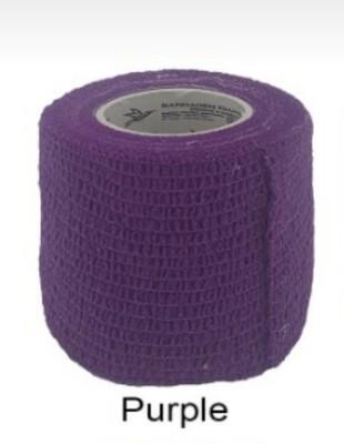 Bandagem Elástica Coadesiva cor Purple  5 cm x 4,5 m