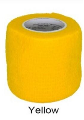Bandagem Elástica Coadesiva cor Yellow  4,5 cm x 5 m