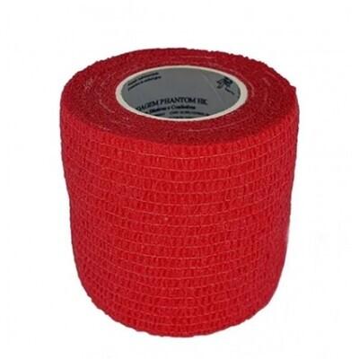 Bandagem Elástica Coadesiva cor Red 5 cm x 4,5 m