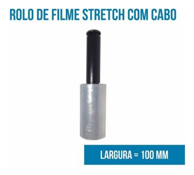Rolo de Film Stretch Com Cabo 10 cm x 100 m