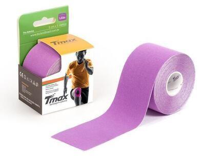 Tmax Fita de Kinésio Bandagem Funcional 5 cm x 5 m Cor: Lilás