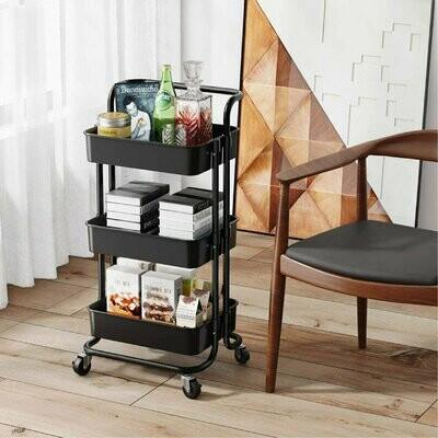3 Tier movable kitchen storage rack