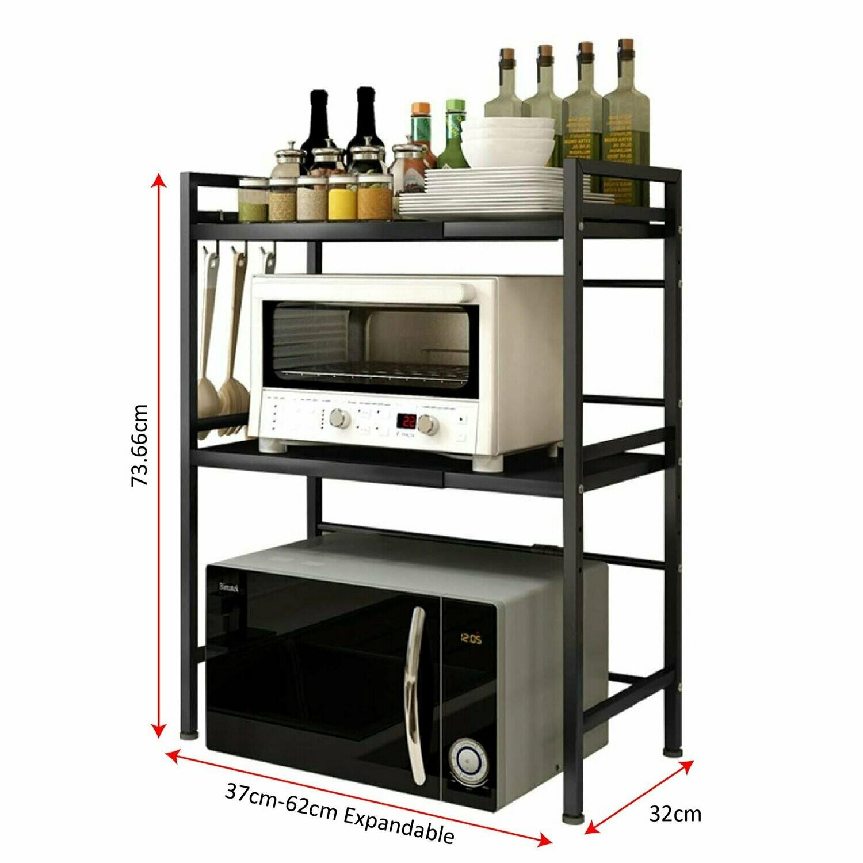 Microwave shelf rack