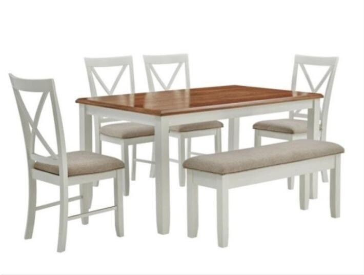 Powell Jane Wood Six Piece Dining Set
