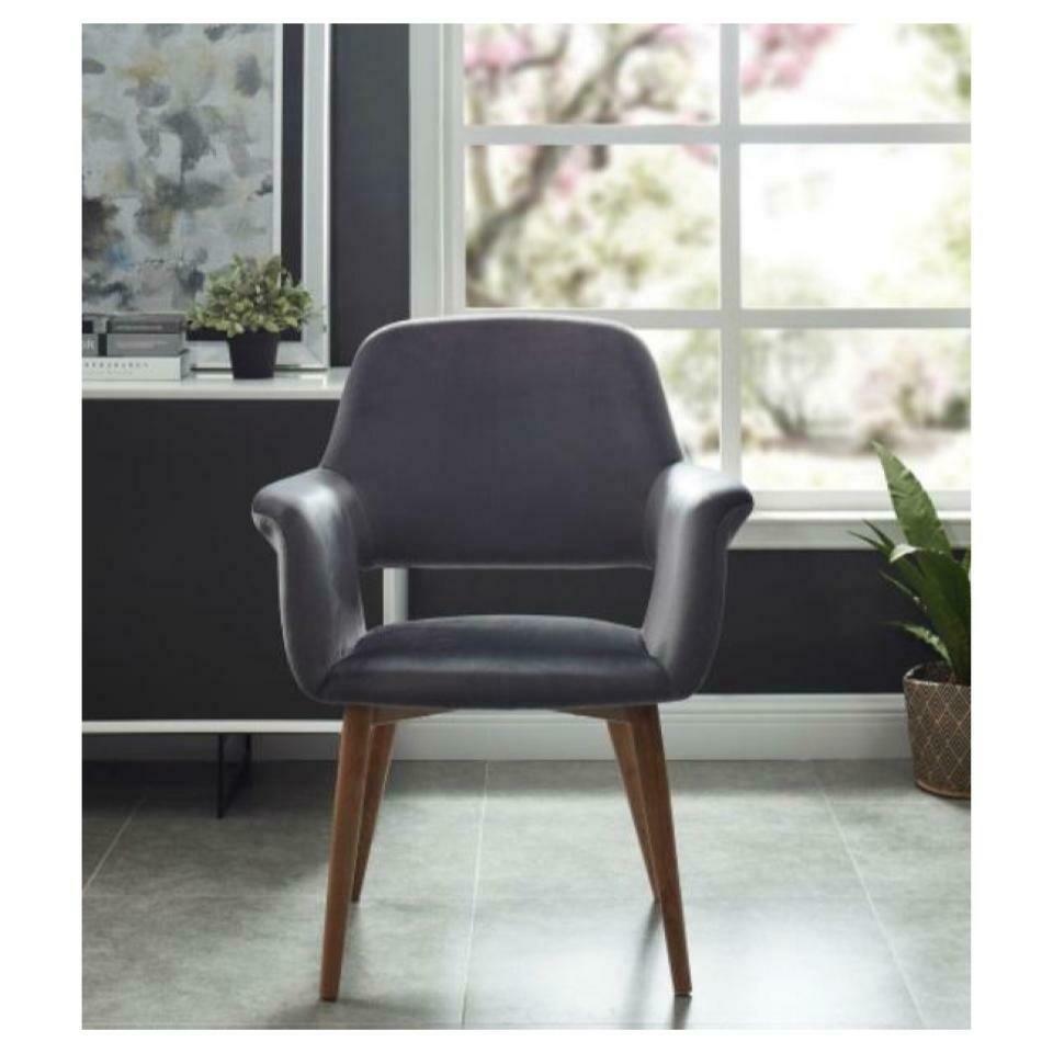 Velvet Upholstered Accent Chair