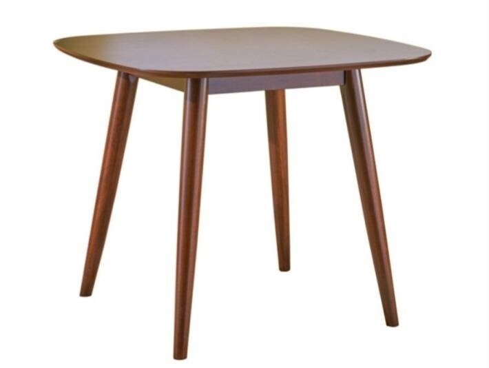 Bass Modern Square Faux Wood Dining