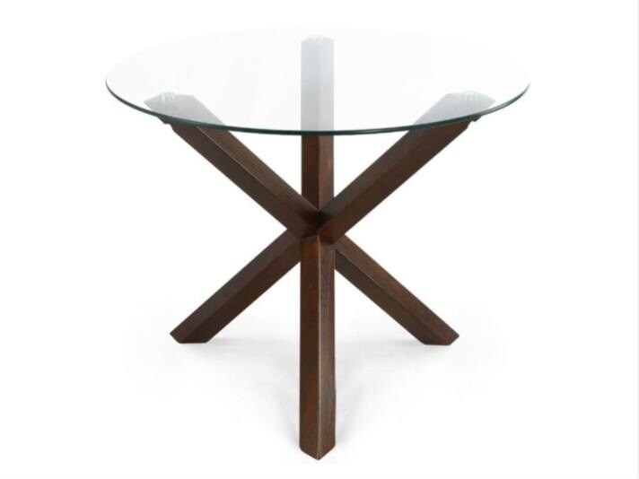 Poly and Bark round dining table, Walnut